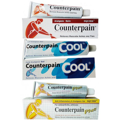 Counterpain Deutschland - Sonderangebot 3er Pack - Hot - Cool - Plus